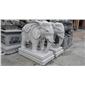 供应广州花都石雕动物 石雕大象 公司大门摆设大象