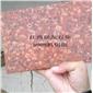 映山红荒料富贵红四季红花岗石机切面荔枝面火烧面光板石材