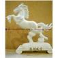 石雕动物 马类动物雕像 汉白玉动物雕像