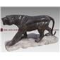 石雕动物 动物豹子雕像 景观动物豹子