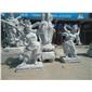 寺庙工程雕塑 大型人物四大金刚佛像雕刻 花岗岩佛像雕塑