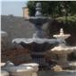 供应天然石头喷水池 石质水钵 黄锈石喷水池 景观喷泉