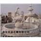 黄锈石喷泉  石雕 喷水池园林雕刻,动物 人物石雕 喷水池 花钵栏杆 花岗岩石材雕塑