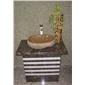 石材造型洗手盆 别墅石头洗手盆加工 天然石材水槽
