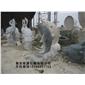 订做石雕喷水鱼 水动物雕塑 花岗岩石材动物雕塑033