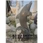 订做景观石雕鱼 水动物雕塑 喷水鱼雕塑