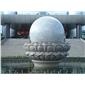 订做风水球石雕  景观风水球 庭院石雕球 转动石球