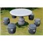 供应订做石桌椅 仿古桌椅 景观桌椅 圆桌