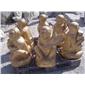 花岗岩石雕猴子 景观动物雕塑