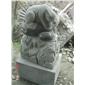 石雕十二生肖,园林动物雕塑,花岗岩景观石雕