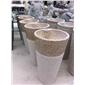 天然石材洗手盆 黄秀石水盆加工 室内室外洗手石盆  08
