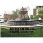 黄锈石喷泉 石雕喷水池园林雕刻,动物 人物石雕 喷水池 花钵栏杆 花岗岩石材雕塑