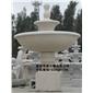石雕景观喷泉、两层喷水池 黄绣石喷泉 6600
