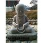 人物雕塑  佛像雕塑 小沙弥人物雕塑  花岗岩小和尚雕塑