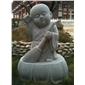 精品花岗岩小沙弥 石雕工艺品雕塑 石材人物神像雕塑