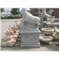 十二生肖雕塑 动物园林雕塑 园林雕刻,动物 人物石雕 喷水池 花钵栏杆