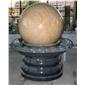 花岗岩园林风水球 石雕庭院石球 石雕景观球 003