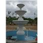 订做黄锈石喷水池/景观喷泉/多层喷泉/石雕喷水池/园林流水景/跌水体
