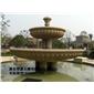 订做/黄锈石喷水池/景观喷泉