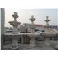 订做三层喷水池/景观喷泉/黄秀石喷泉/花岗岩喷泉