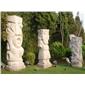 花岗岩石柱 石雕龙柱 景观广场文化柱 别墅庭院罗马柱 景观实心柱550