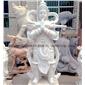 韦陀菩萨雕塑定制 青石佛像 大型石雕摆件