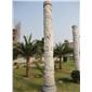石雕文化柱 别墅石材罗马柱 景观华表柱 石柱