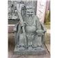 石雕土地公雕刻 青石人物佛像雕塑 寺庙雕塑摆件