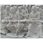 石材五百罗汉 五百罗汉雕像 寺院五百罗汉摆件