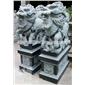 惠安厂家直销 定做动物石雕麒麟 雕塑家居?#39057;?#25307;财摆件