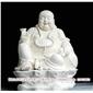 佛像弥勒佛精心雕刻 汉白玉石雕弥勒佛 惠安石雕