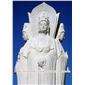 大理石佛像三面观音 汉白玉观音像石雕 寺院祭祀佛像