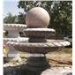 石雕风水球 风水球摆件 别墅小区景观石雕喷泉