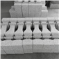 河南花岗岩石材厂家 异形加工 石材栏板 扶手 栏杆