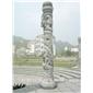 花岗岩石头龙柱 旅游景区文化柱 中华文化雕刻