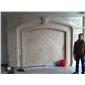 石材背景墙米黄天然大理石客厅电视背景墙大理石加工欧式背景墙