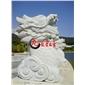 喷水动物石雕 大理石喷水雕塑 石雕厂家