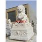 石獅子 精美石雕獅子一對 門口石獅