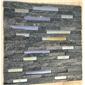 黑+彩色玻璃文化石