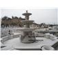 供应石雕跌水盆 喷水池 黄锈石水钵 园林水景 石雕喷泉