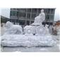 MGP229白色大理石人物和狮子雕像