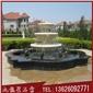 石雕喷泉定做 喷泉雕塑 白麻水钵喷泉
