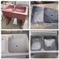 天然花岗岩个性化定制 洗被池 洗衣池 印度红 英国棕 浪淘沙 虾红 洗涤器