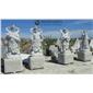 四大金剛石雕像