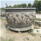 仿古石雕鱼缸  石雕花盆 青石鱼缸