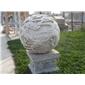 园林雕塑 景观雕刻 石雕圆球雕刻