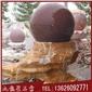 枫叶红风水球 石材风水球 风水球喷泉