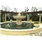 埃及米黃水缽 石雕噴水池 景區石雕噴泉