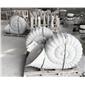 石雕海螺噴水景觀小品