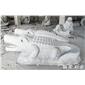 石雕鳄鱼喷水装饰雕塑
